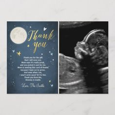 Baby Shower Thank You Card Love You to the Moon - thank you gifts ideas diy thankyou Star Baby Showers, Baby Shower Fun, Fun Baby, Shower Party, Boy Birthday Invitations, Baby Shower Invitations, Baby Shower Thank You Gifts, Baby Gifts, Halloween Movie Night