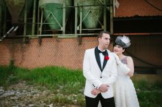 Red, Black & White 1950s Rock n Roll Wedding: Lidia & Joaquín
