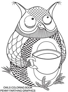 """From """"Owls Coloring Book"""""""