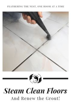 Think you have to tear up your tile to get a great looking floor? Guess again! Steam clean tile and grout to get it looking as good as new. Floor Grout, Cheap Tiles, Cleaning Tile Floors, Black Grout, Clean Tile Grout, Grout Cleaner, Steam Cleaners, Fall Diy, How To Clean Carpet