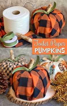 Easy Fall Craft Idea For The Home: Toilet Paper Pumpkins Looking for easy DIY fall projects? These toilet paper pumpkins are simple, fun and cheap to make! Even the kids can make this easy. Easy Fall Crafts, Easy Crafts To Make, Fall Diy, Thanksgiving Crafts, Diy Crafts For Kids, Home Crafts, Fall Pumpkin Crafts, Kids Diy, Spring Crafts