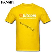 Men T-shirt Summer Short Sleeve O Neck Tee Shirts Men Bitcoin In Cryptography We Trust Guys Tops Tee