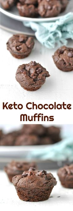 Keto Chocolate Muffins | Peace Love and Low Carb #keto #ketomuffins #chocolatemuffins #lowcarbrecipe