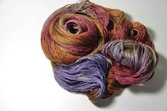 Silk Baby Camel Lace in The Blushing Robin  One of a by Lichtfaden
