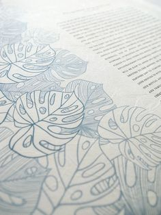 Washi Ketubah - Tropical Flora