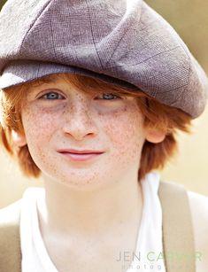 Cute freckled boy! :)