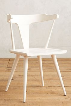 Alice, we actually like the idea of the 4 different colors of these chairs (one of each). Mackinder Dining Chair  #anthropologie