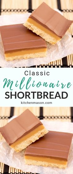 This classic millionaire's shortbread recipe is perfect for weekend baking! It's also an impressive dessert recipe & a beautiful homemade gift idea. Caramel Shortbread, Shortbread Recipes, Dessert Simple, Dessert Recipes, Tray Bake Recipes, Millionaire Shortbread Rezept, Baking Recipes, Cookie Recipes, Recipes