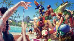 Fête à la piscine | League of Legends
