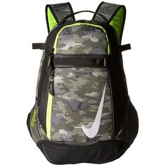 Nike Vapor Select Bat Backpack Graphic (Tumbled Grey/Black/Volt)... ($40) ❤ liked on Polyvore featuring men's fashion, men's bags, men's backpacks and mens one strap backpack