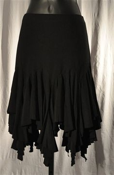 Unevent Hem Latin Skirt with Built-in Under pants