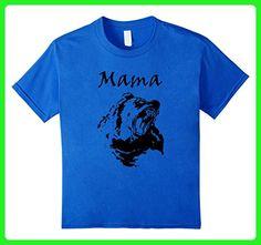 Kids Mama Bear Mothers Day Warrior Mom T-Shirt 6 Royal Blue - Relatives and family shirts (*Amazon Partner-Link)