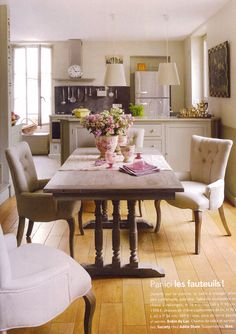 I just like the feel ~ Open table close to kitchen