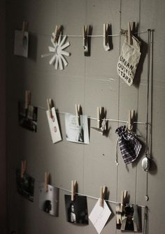 ♥ Inspiration wall ♥ This would be a fun display to have for postcards. Customers can bring in a postcard for incentive on their purchase