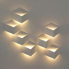 1W Modern Led Wall Light Kunstnerisk Cubic Metal Shade - DKK kr. 264