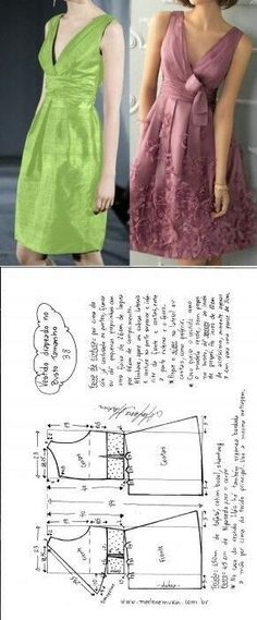 DIY Women's Clothing : Sewing dress…♥ Deniz ♥ -Read More – Sewing Dress, Diy Dress, Sewing Clothes, Sewing Patterns Free, Clothing Patterns, Dress Patterns, Pattern Dress, Robe Diy, Illustration Mode