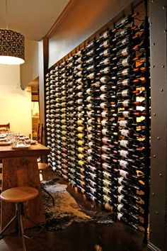 Wine wall.