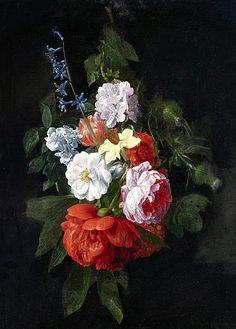 stilllifequickheart: Nicolaes van Veerendael Still Life with Flowers 17th century
