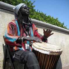 Senegal, West Africa... hand drummers are all Kool...