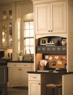 I want this!!  A well organized Kitchen Command Center can help your family keep up with day-to-day activities and schedules.