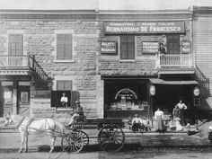 De Francesco Italian Grocery Store, corner of Saint-Zotique and Clark (1914) - The influence of Italian culture in Montreal is strong, undeniable and pervasive.    #TuscanyAgriturismoGiratola