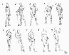New Drawing Poses Male Sketch Character Design Ideas Male Pose Reference, Figure Drawing Reference, Design Reference, Anatomy Reference, Body Reference, Male Figure Drawing, Drawing Poses Male, Sketch Poses, Female Drawing
