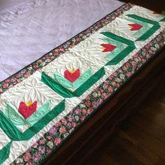 Pé de cama em patchwork
