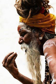 Holy man (sadhu), Varanasia, India.