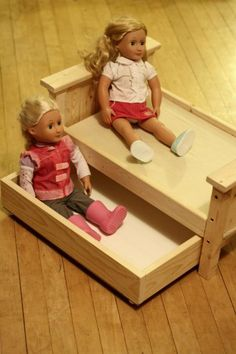 Doll Bed and Trundle pattern & tutorial (ana-white.com)