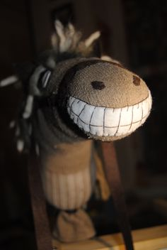 Sock horse- LOVE the teeth! :)