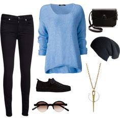 A fashion look from September 2013 featuring 7 For All Mankind jeans, Ann Demeulemeester sneakers and Alexander Wang shoulder bags. Browse and shop related looks.