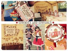 Western Theme Birthday Party w/ costumes and props! What a FUN way to spend a birthday! www.justjazzyparties.com