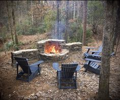 Fire Pit Seating, Fire Pit Area, Fire Pit Backyard, Backyard Patio, Fire Pit Grill, Backyard Ideas, Outdoor Fireplace Designs, Backyard Fireplace, Fireplace Ideas