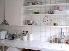Tiled Countertops Matching Backsplash