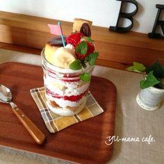 ○ありがとうございます(ノ_<) メイソンジャー プリンアラモードケーキ♡の画像 | ゆーママ おうちカフェ レシピ