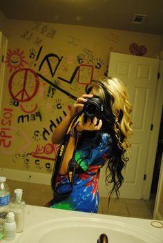 #blonde & #black #dyed #scene #hair #pretty