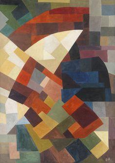 Komposition by Otto Freundlich, 1930, gouache on paper