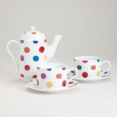 One of my favorite discoveries at WorldMarket.com: Polka Dot Tea For Two Set