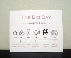 Cute idea to keep wedding party on time