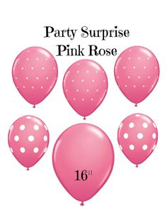 Pink Rose Balloons latex 11 16 Pink Rose polka by PartySurprise
