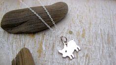 Simple Silver Piglet Necklace // Vegetarian // Vegan // Animal Lover // Animal Donation // Good Cause Jewelry // Delicate // Simple on Etsy, $21.97