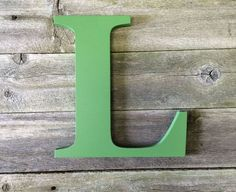 """Letter L Extra Large wooden  24"""" distressed hand painted custom capital alphabet.  Use as Guest Book for Wedding, Reception or Wedding Photo by ASimplePlaceOnMain on Etsy"""