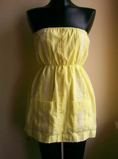 B.Link — MD Vintage Guayabera Dress - Buttercup Yellow. $30