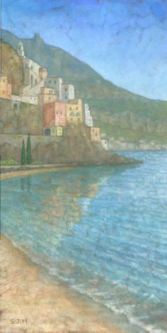 Original Painting  Amalfi Italy by Steve Mitchell on Etsy, £400.00 or $683.06