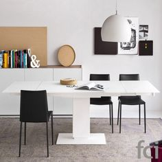 Echo Extending #Table With Pedestal Base by #Calligaris starting from £2,511. Showroom open 7 days a week. #extendingtables #moderndining  #modernfurniture #furniture_showroom_london #furniture_stores_london #fcilondon #calligaris_extending_tables