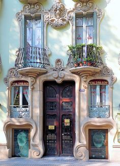 Windows in Barcellona Spain