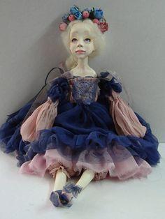 OOAK  Souvenir doll Anna Boudoir handmade doll Аrt doll The doll in a gift Doll fairy  Birthday present for a girl