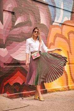 Thassia Naves | NYFW 2016 | Street | Midi Skirt