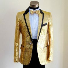HOT Mens Zhongshan Suit Coat/&Pants Floral Sequins Wedding Bling Customize Size