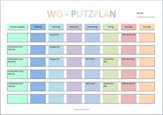 WG Putzplan Vorlage